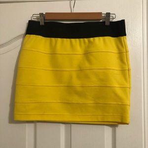 Yellow Tube Skirt